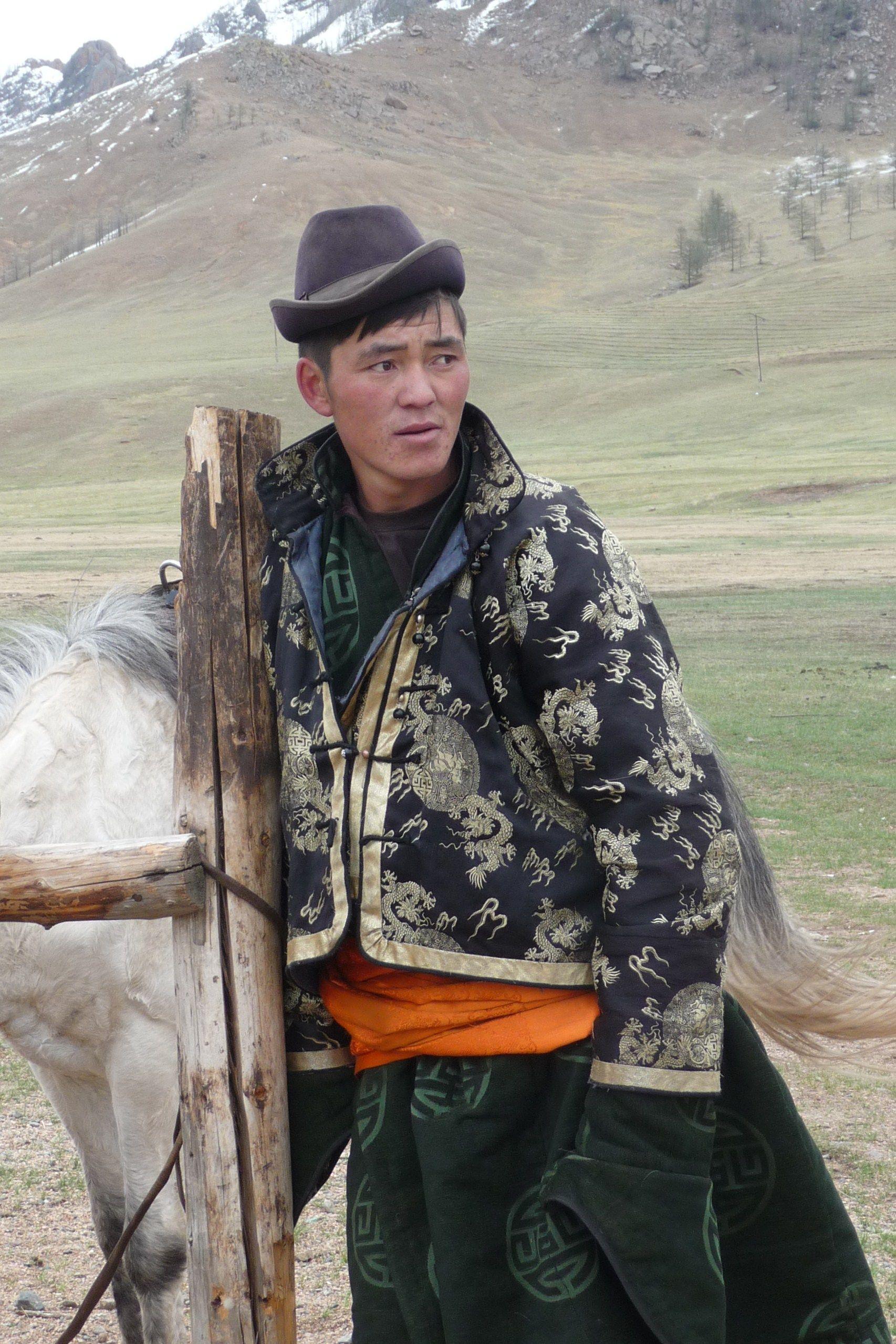 Man in Gorkhi Telejl National Park, Mongolia
