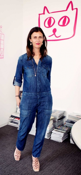 0f99b8b91dde Sally Singer in Citizens of Humanity s Tallulah jumpsuit   Jean of the Week    Jean Stories