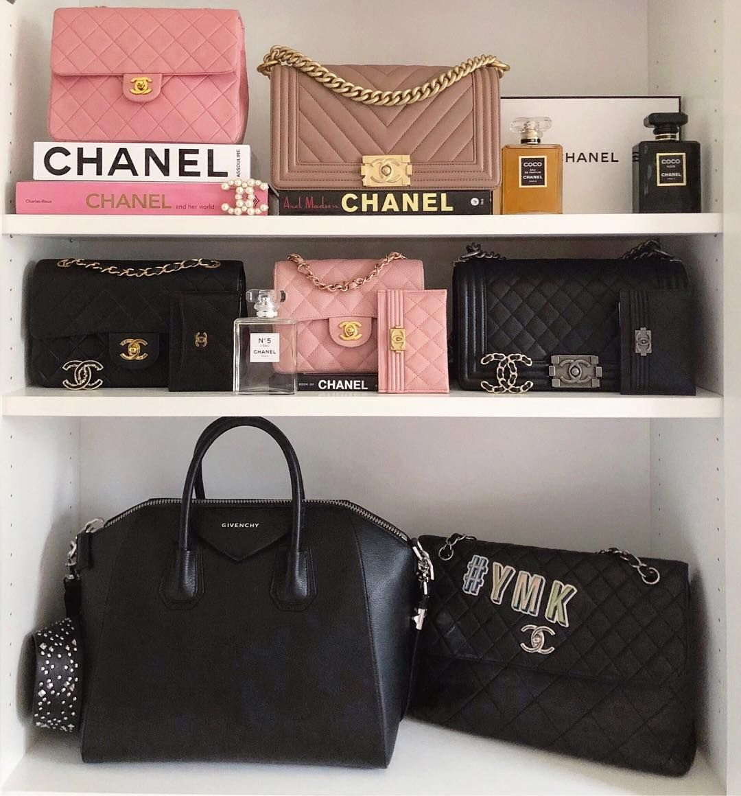f0e5d7798f2f Some of my designer handbag collection: Givenchy Antigona medium, Chanel  vintage pink mini flaps, chevron beige Chanel boy