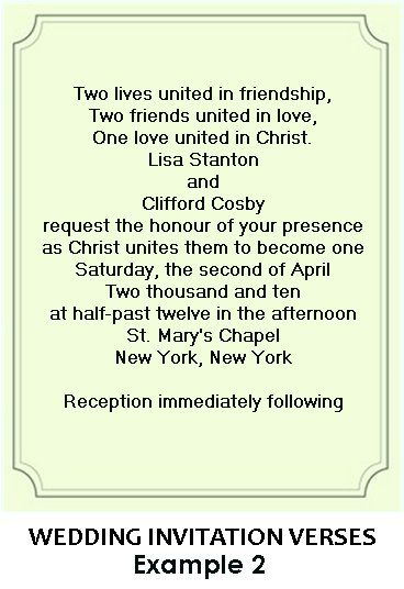 Christian Wedding Invitation Card Wording