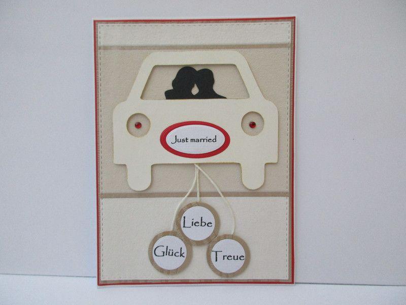 """Hochzeitskarten - Hochzeitskarte ... """"Just married"""" - ein Designerstück von…"""