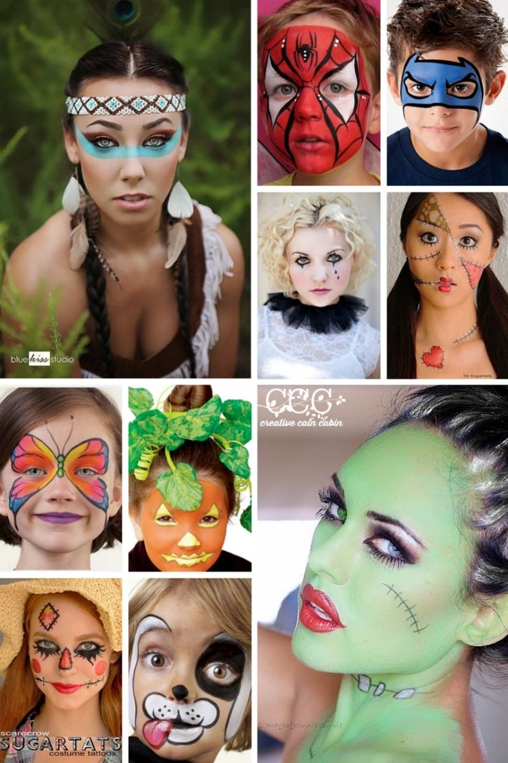 easy halloween face painting ideas non scary dont need to be an - Easy Scary Halloween Face Painting Ideas