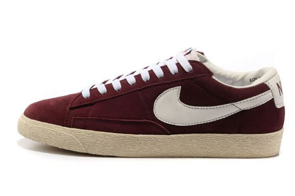quality design 8ccd0 9123e Shop1391F Nike Blazer Low Suede Vintage Womens Wine RedWhite