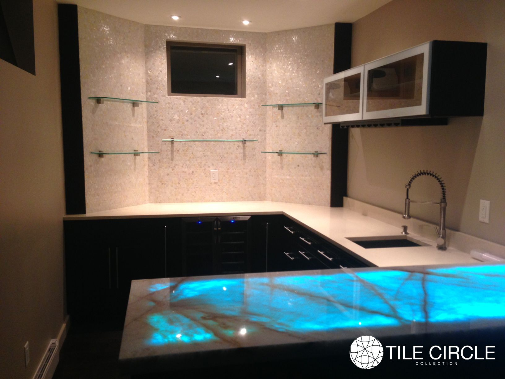 Mother Of Pearl Tile By Tile Circle For Bar Backsplash Available