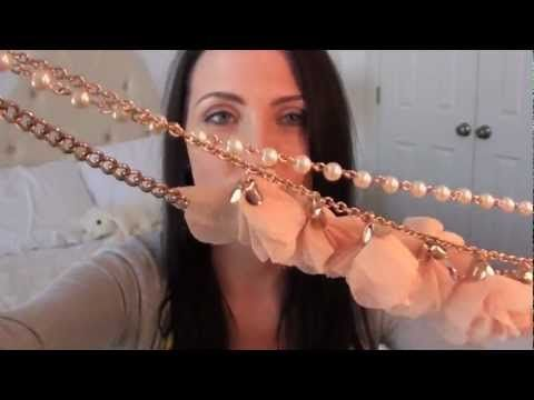 How to wear necklaces as headbands and bracelets - YouTube