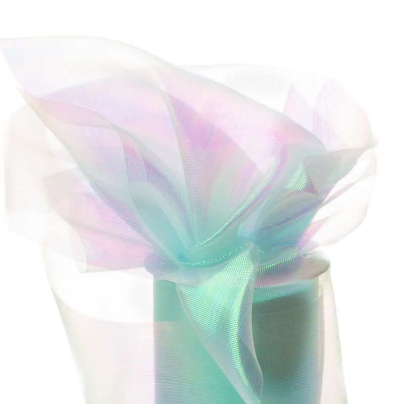 Luxury Wire Edged Ribbon LOW SUMMER BREEZE Pastel Pink Green Sheer Organza