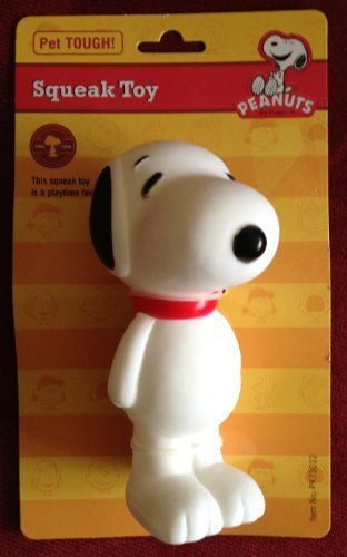 Paanuts Snoopy Dog Squeak Toy Pet Tough 6 Inches Tall By Snoopy