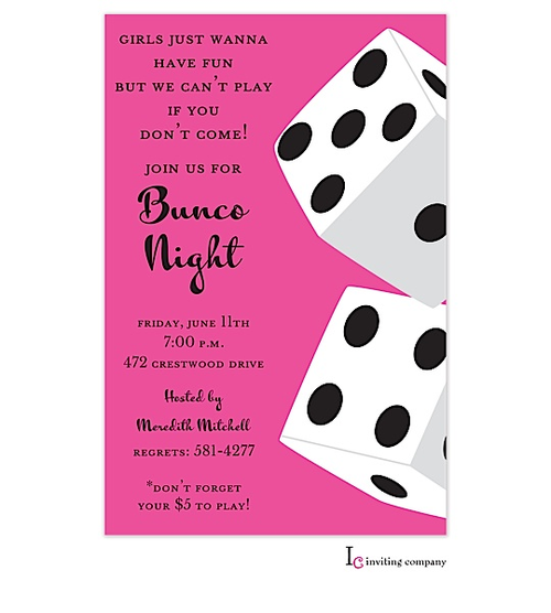 Bunco Casino And Game Night Party Invitations New Selections