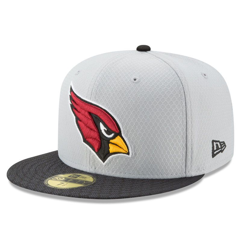 7bdbba01 Arizona Cardinals New Era 2017 Sideline 59FIFTY Fitted Hat - Gray ...