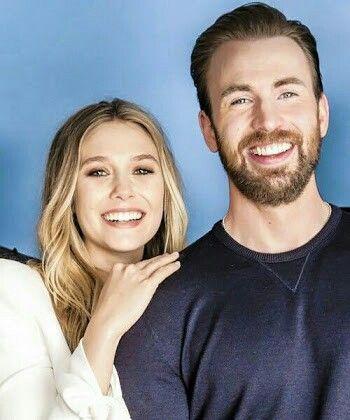 Chris Evans And Elizabeth Olsen Chris Evans Chris Evans Captain America Elizabeth Olsen