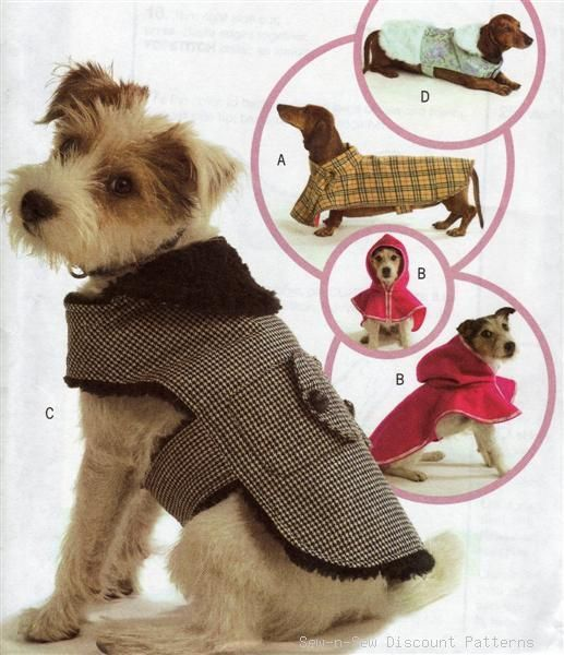 Dog/Puppy Clothes Coat Costume PATTERN Red Riding Hood | Free dogs ...