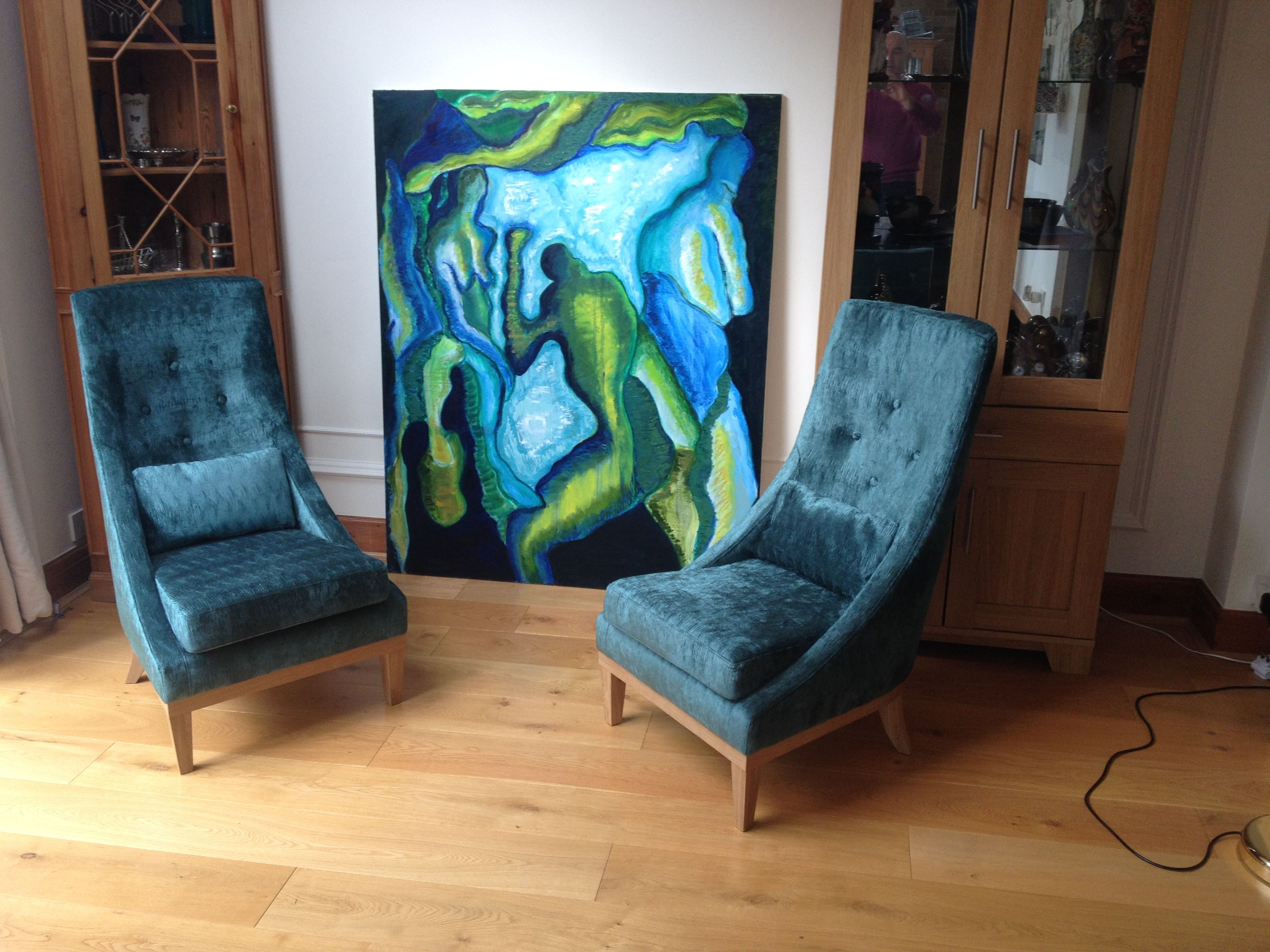 Designer Chairs Used Arkona Velvet From Harlequin Used On These Contemporary