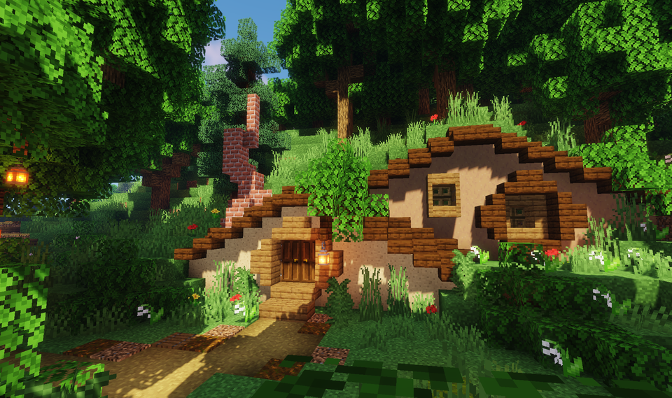 Small Houses In The Forest Minecraft Minecraft Houses Cool