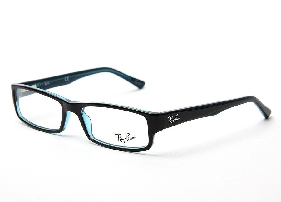 298a94a7f6 NEW RAY BAN BLACK BLUE TWO TONES RX EYEGLASSES UNISEX RB 5246 5092  52-16-135  RAYBAN