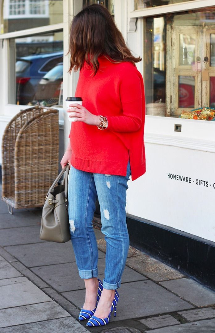 30  Most Shared Winter Outfits To Try | Blue high heels, Red ...