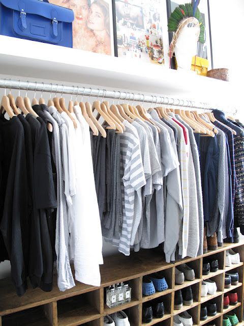 Secrets Of An Organised Closet? Consistent Style Of Hangers Hung In One  Direction U0026 Clothes
