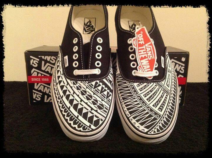 I love these tribal design Vans!   Vans, Custom shoes, Shoes