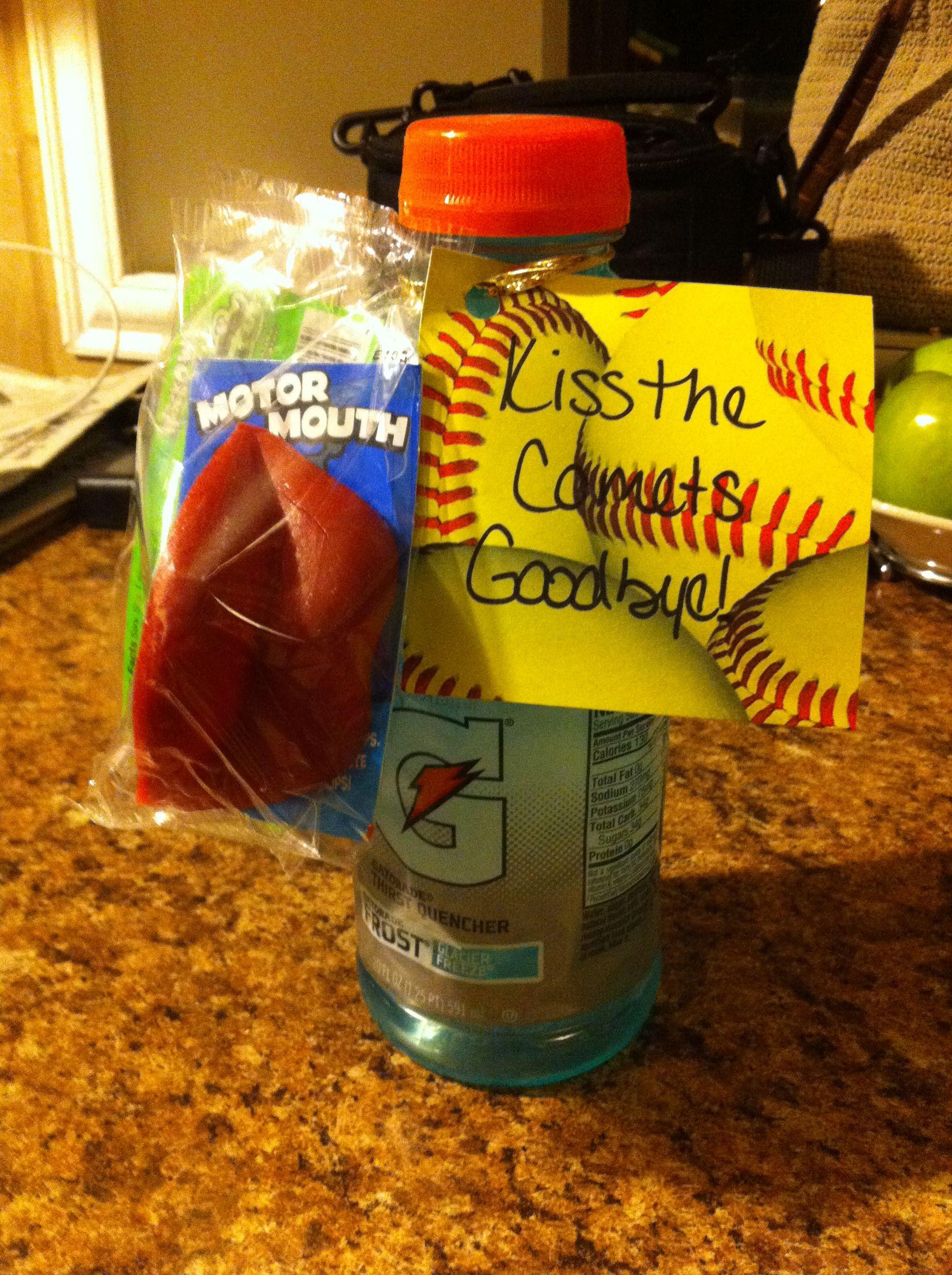 Kiss Comets Goodbye Wax Lips & Gatorade Softball