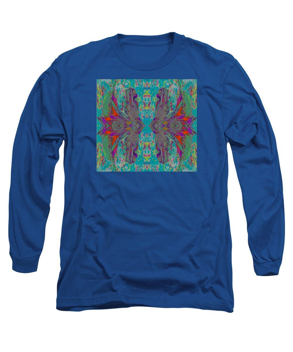 Paisley Style Graphic Print Made Using A Long Sleeve T-Shirt featuring the digital art Glad Mirror One by Expressionistartstudio Priscilla-Batzell