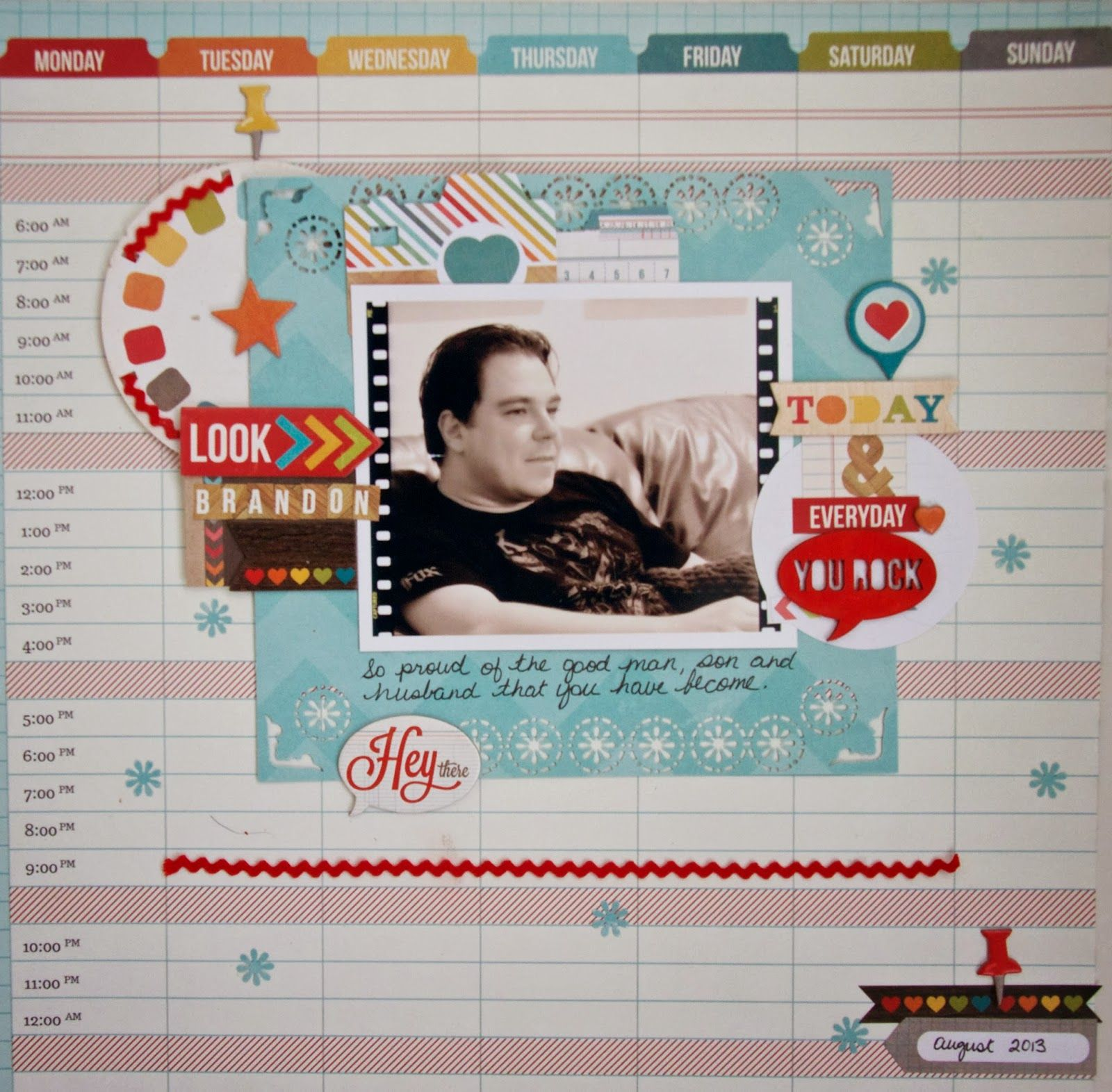 Journey scrapbook ideas - Love The Journey Today And Everyday You Rock Layout