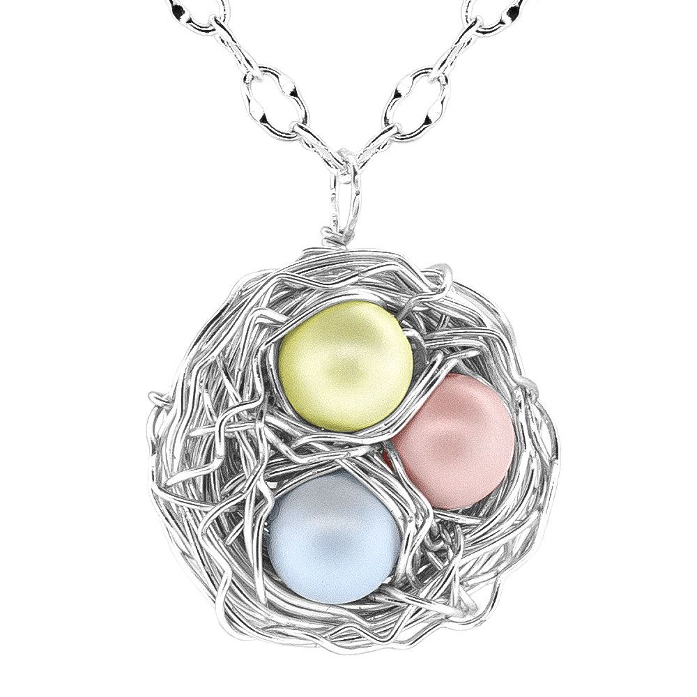 Easter Nest Necklace: tutorial can be found at http://www ...