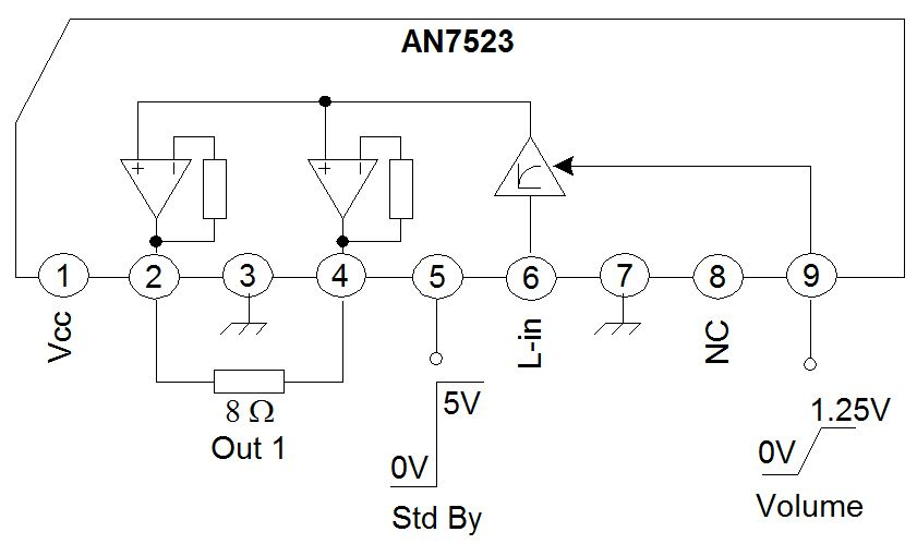 audio amplifier with ic an7522 an7523 and tda2616 hubby project rh pinterest com