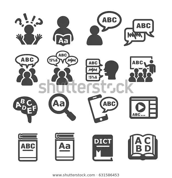Language Icon Stock Vector Royalty Free 631586453 Language Icon Icon Language