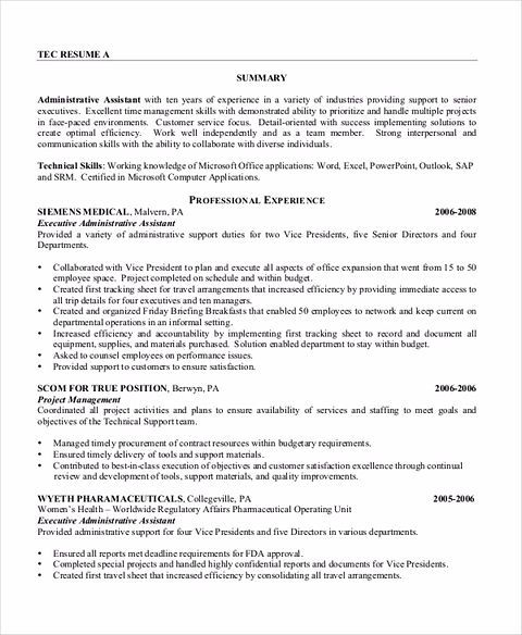 Secretary Resume Some Important Tips To Have The Best Executive Assistant Resume