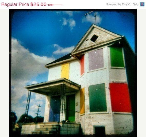 Rainbow Crackhouse - Holga Lomography print - Etsy