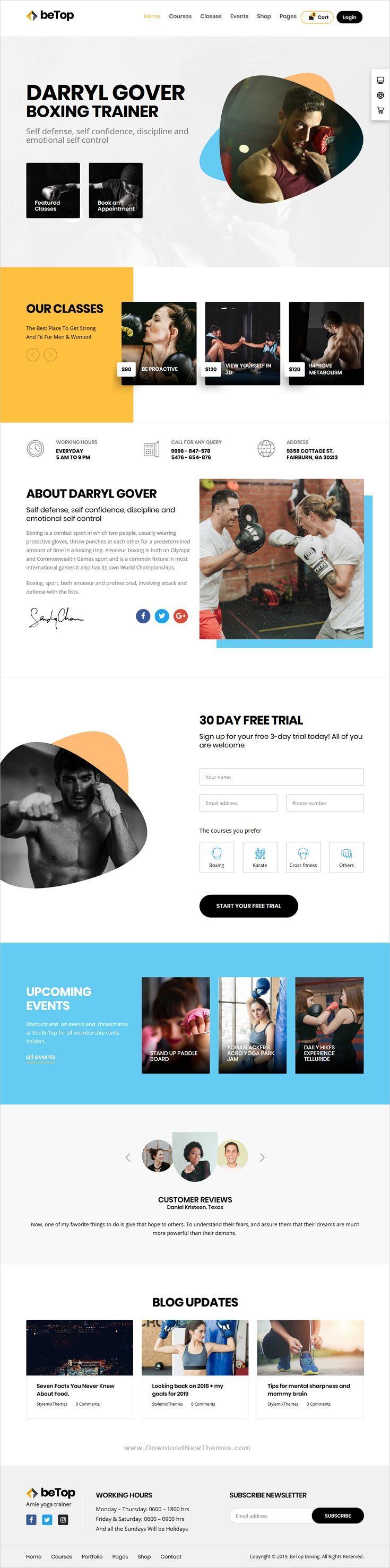 BeTop Coaching & Speaker WordPress Theme - Wordpress For ...