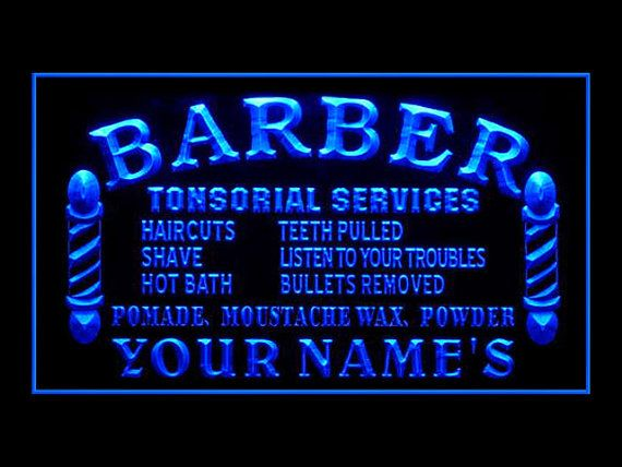 338000B Custom Made Barber Tonsorial Service Haircut by Easesign