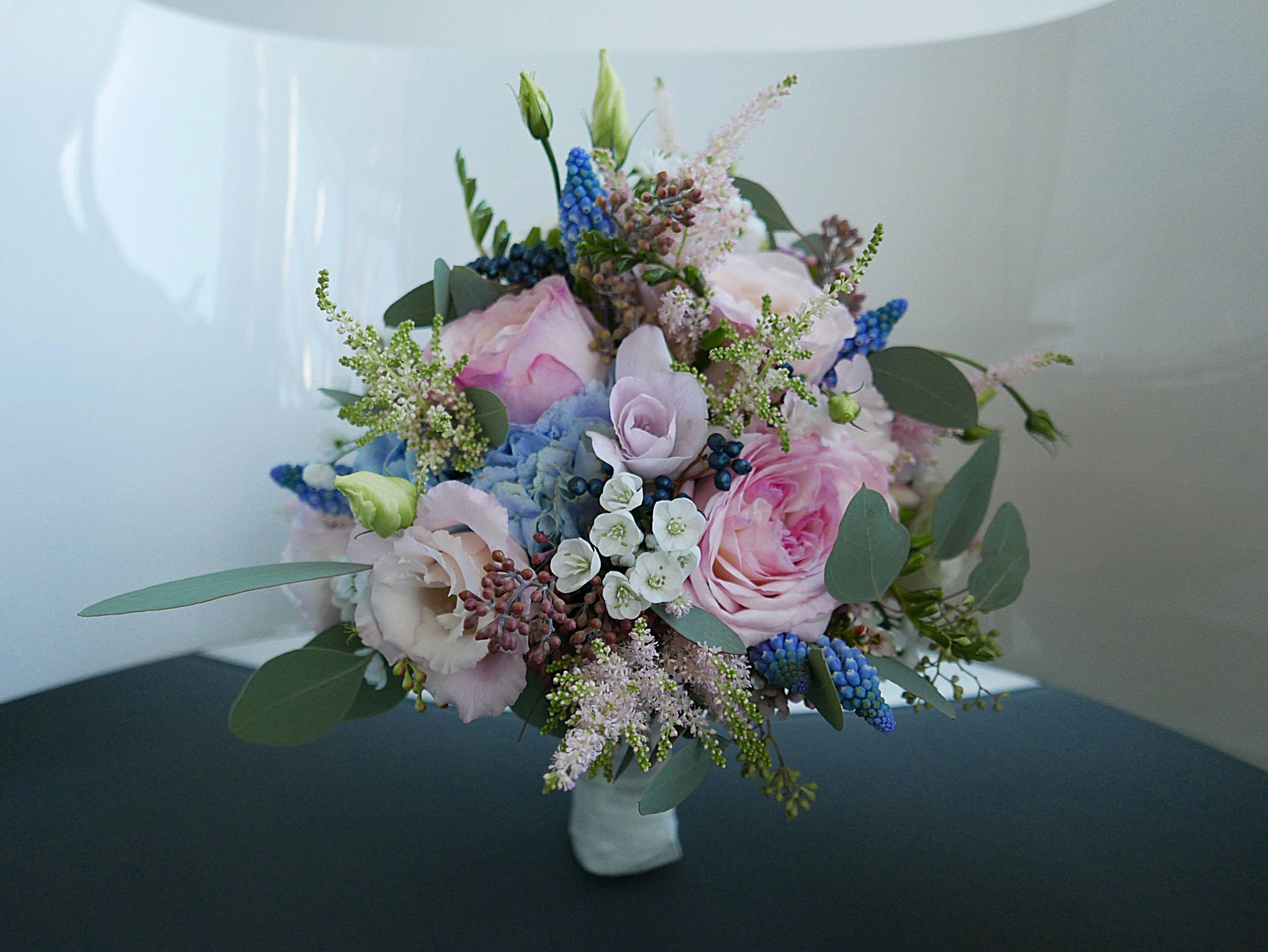 Brautstrauss Pastell Rose Blau Weiss Trendfarben 2016 Http Www