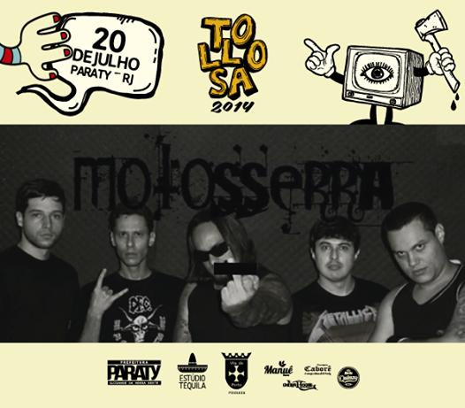 Completando o time do Tollosa 2014, os caras da Motosserra! a banda mistura várias vertentes do metal e o resultado é um som pesado e cheio de energia!  #PousadaDoCareca #paraty #musicaparaty #rockparaty #tollosa #Motosserra #BandaMotosserra #FestivalDeMúsica #rock #festival #música #cultura #turismo