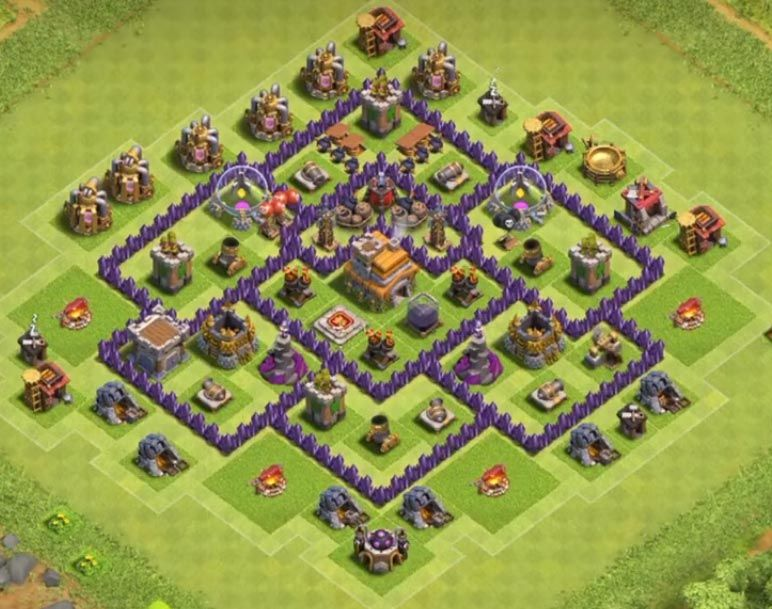 25 Th7 Trophy Base Link 2021 New Latest Anti Trophy Base Trophy Clash Of Clans