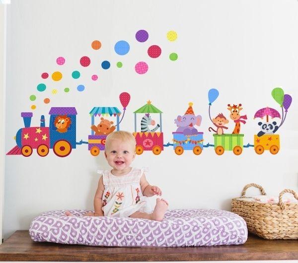 M s tama os ebz1046 vinil infantil tren flickr intercambio de fotos vinilos decorativos - Habitacion infantil tren ...