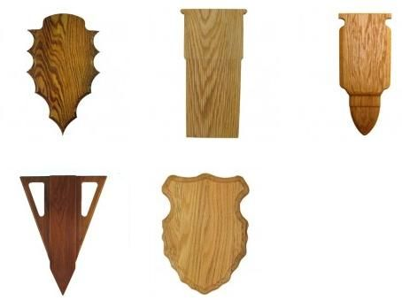 Different types of taxidermy plaques for mounts for Arrowhead plaque template