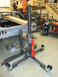 Homemade Automotive Rotisserie Workshop Garage