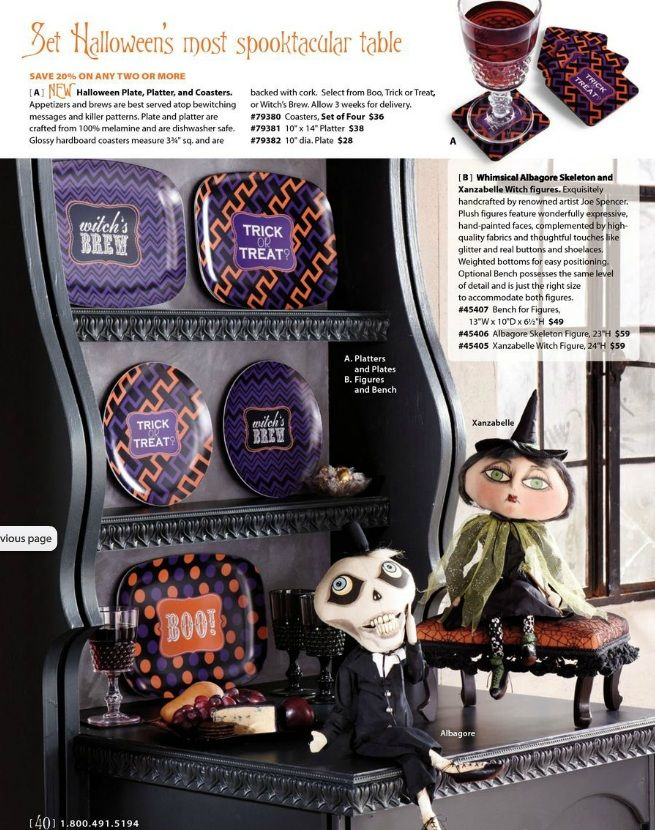our spooky halloween collection for grandin road cataloghttpwww grandinroad - Grandin Road Catalog