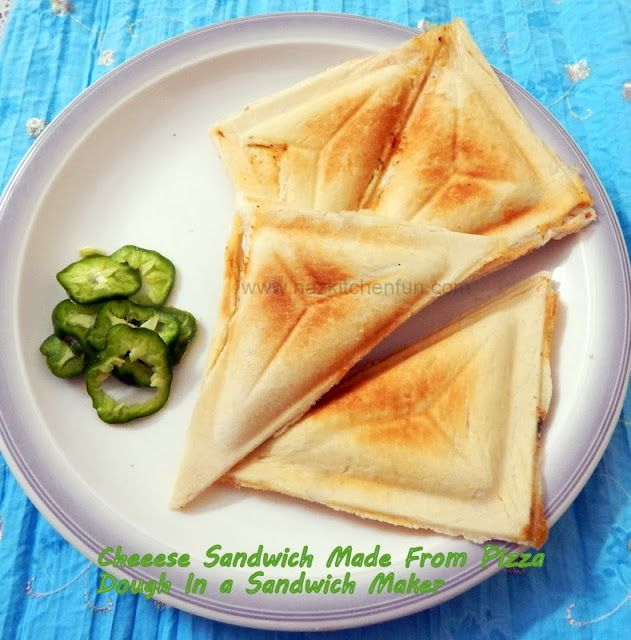 Cheese sandwich  A light fulfilling sandwich great for lunch, Kids, or a Snack. Made from leftover pizza dough. Stuffed with your favorite Sauce, Cheese, or veggies. There are so many wonders you can do with a simple sandwich maker! So buy one for your kids today!