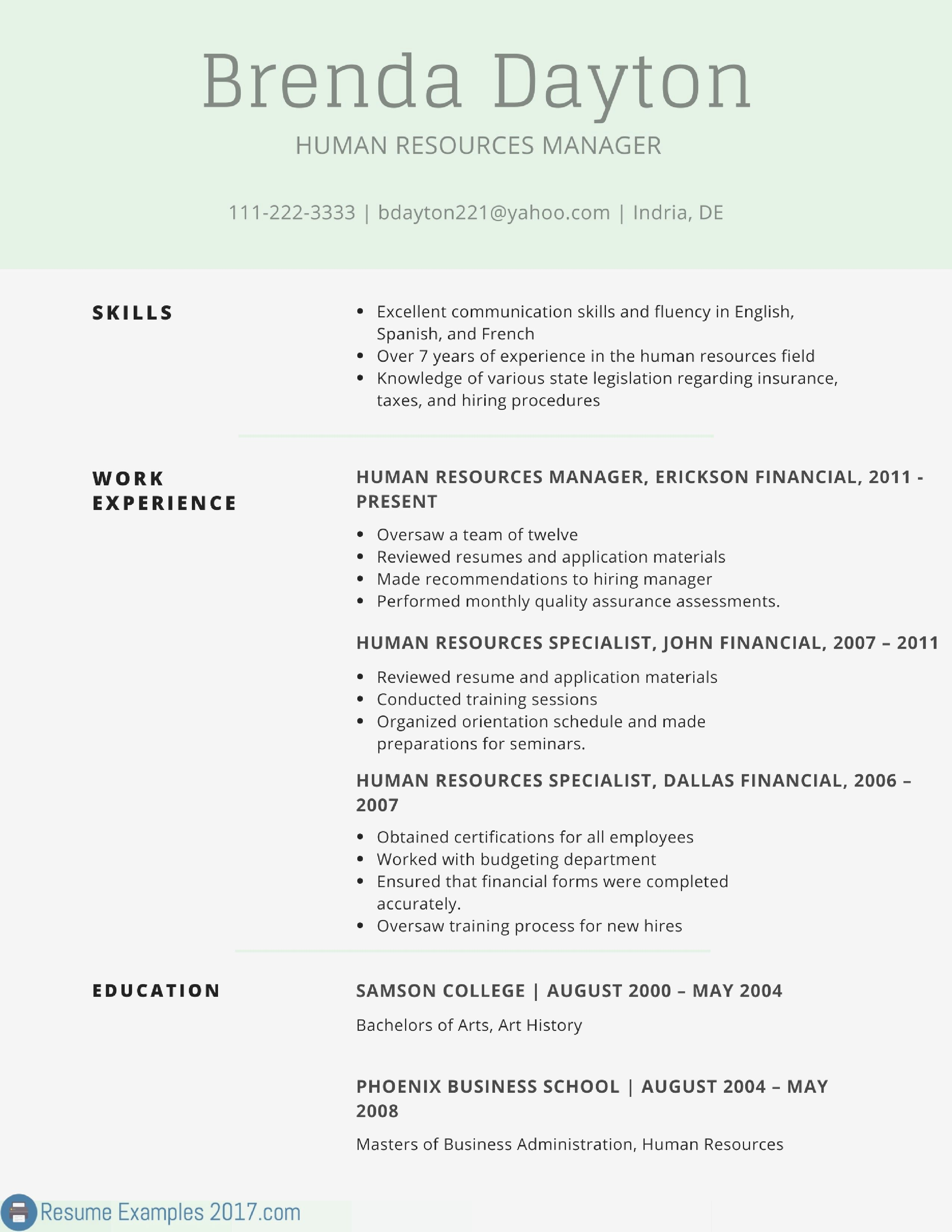 65 Inspiring Collection Of Sample Resume Professional