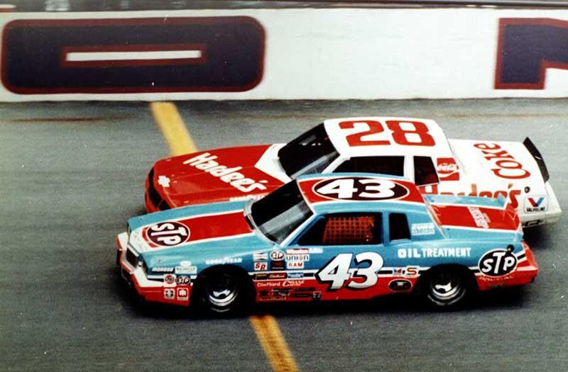 The King Richard Petty edges Cale Yarborough to the line to earn his 200th and final career win.