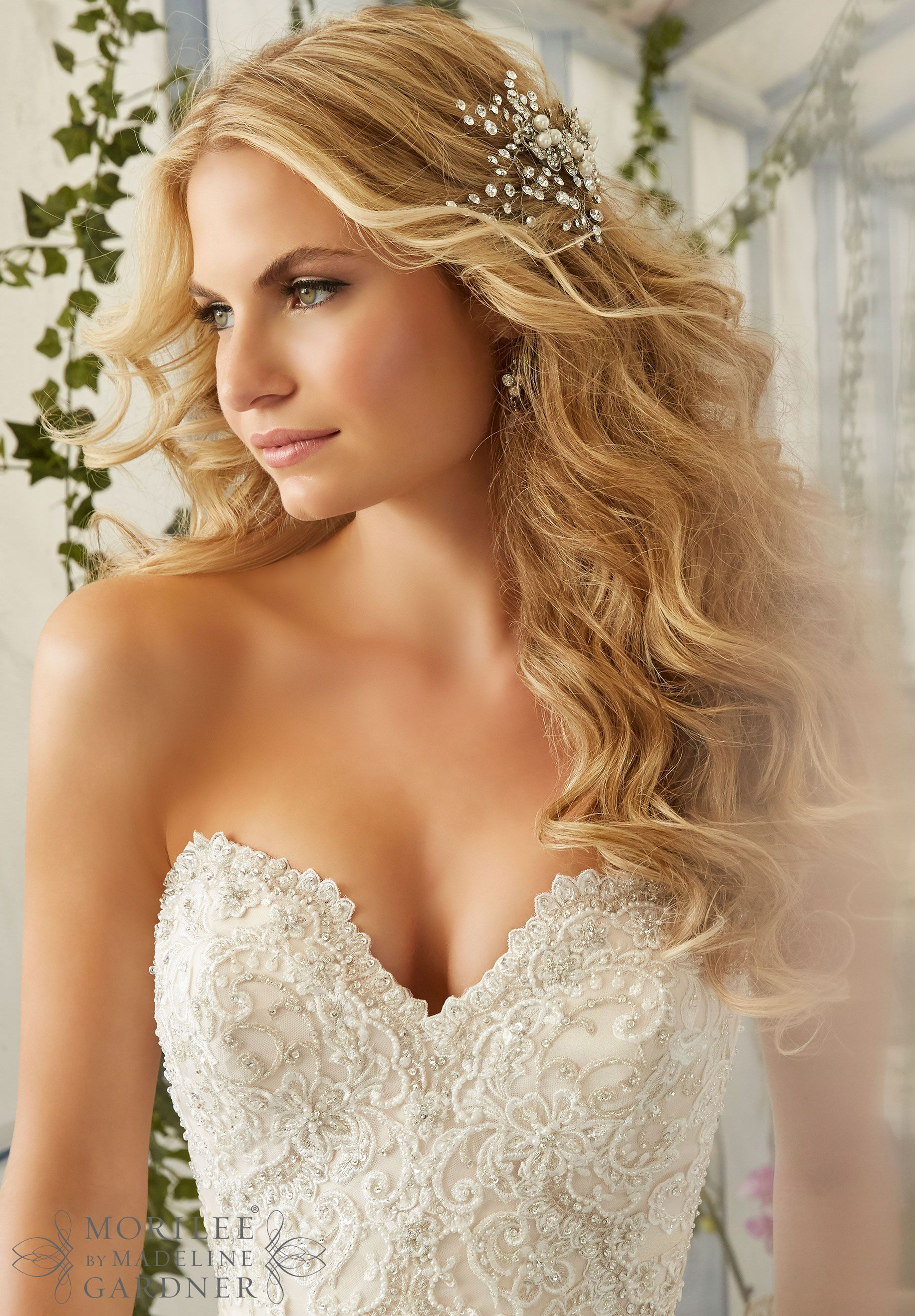 Wedding dresses with beading  Wedding Dress  Embroidered Appliques and Edging with Crystal
