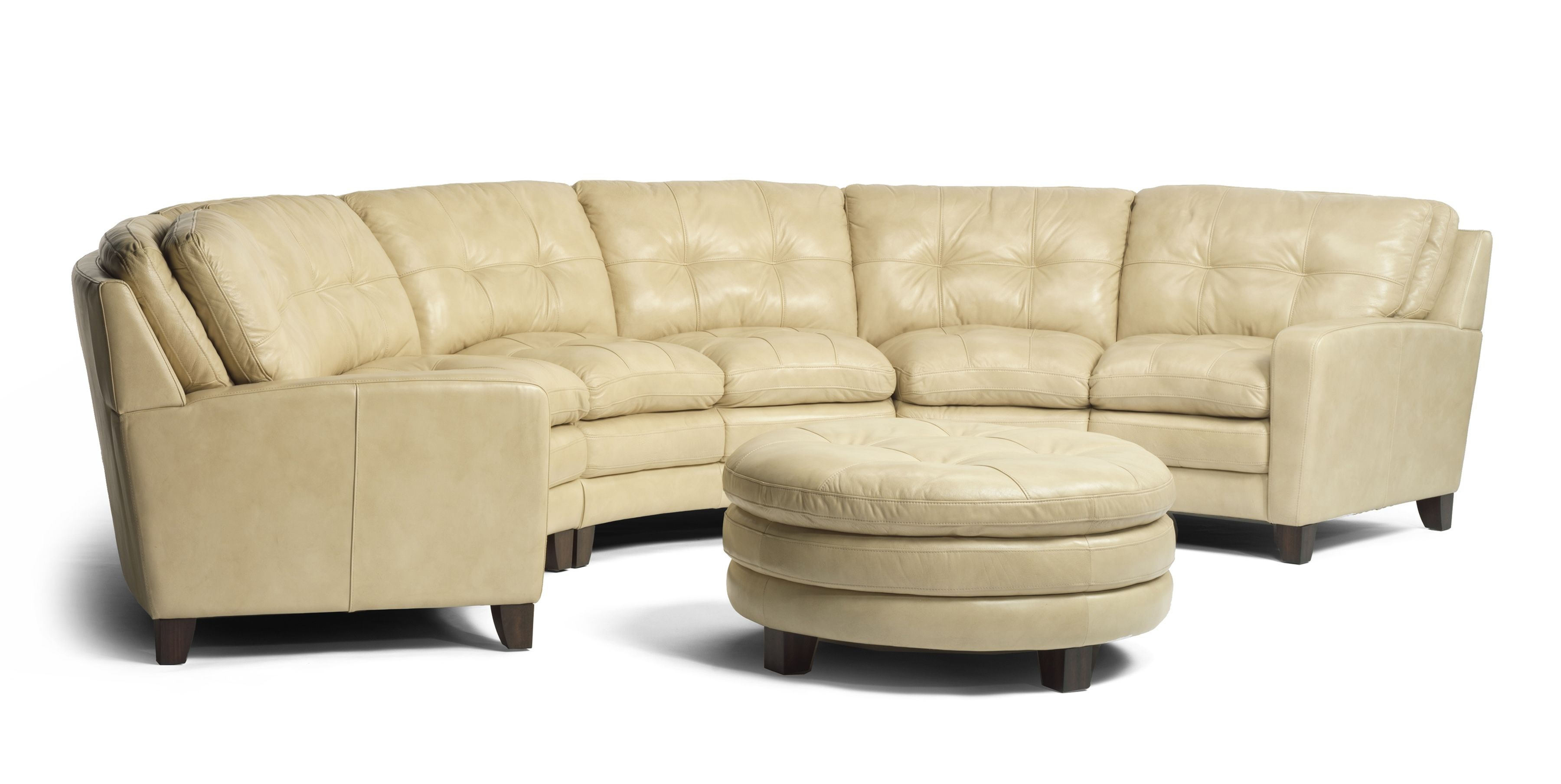 Gorgeous cream leather conversation sofa