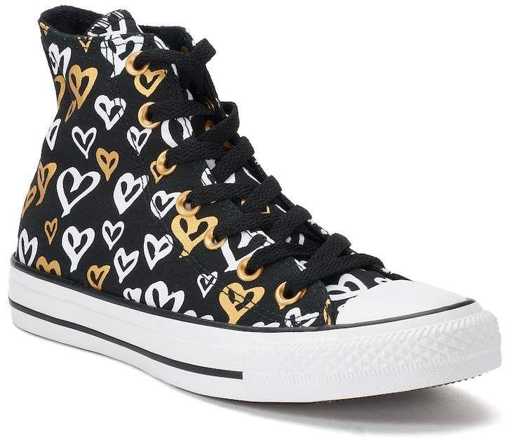 22d46dd82ce0 Converse Women s Converse Chuck Taylor All Star Heart Print High Top  Sneakers
