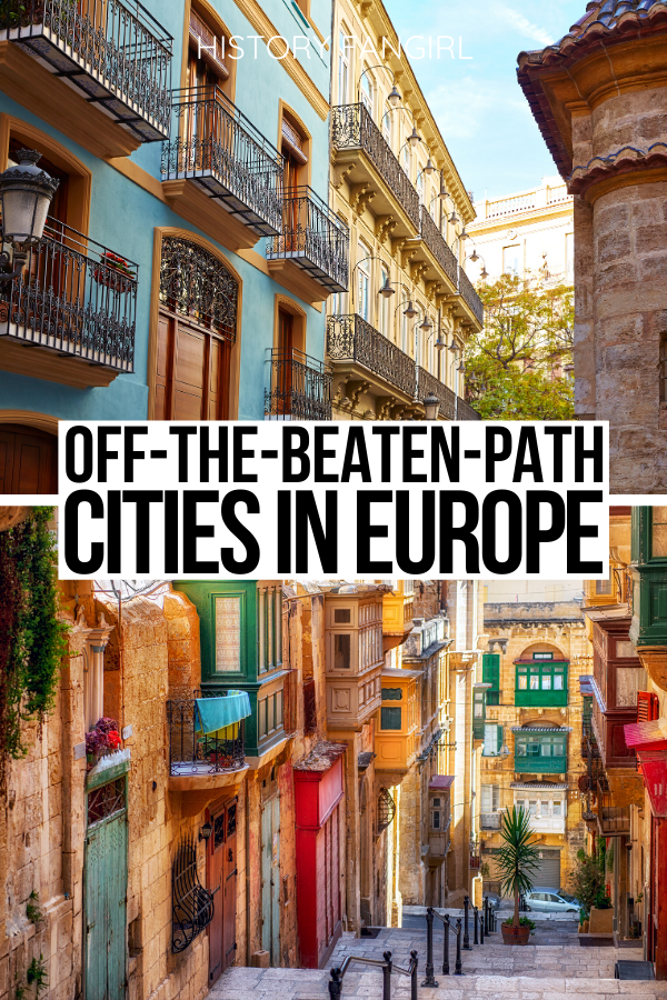 Looking to explore some underrated cities in Europe? These are all much less crowded than popular spots and make for perfect European getaways! weekend getaways in Europe | Europe weekend getaways | best places to visit in Europe | where to go in Europe | things to do in Europe | things to see in Europe | Europe off-the-beaten-path | romantic getaways in Europe | Europe travel guide | Europe vacation guide | Europe road trip ideas | travel tips for Europe | best places to go in Europe | secret