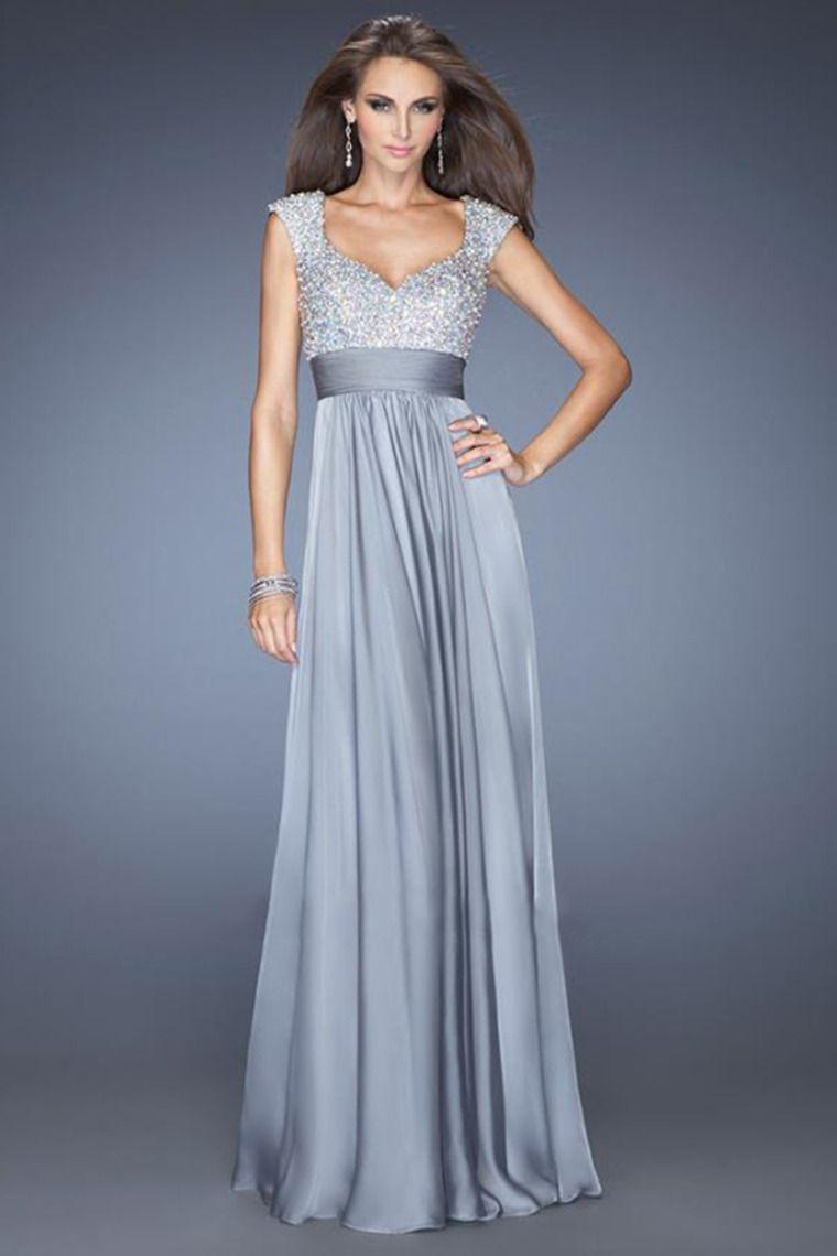 exquisite straps a lineprincess floor length chiffon prom