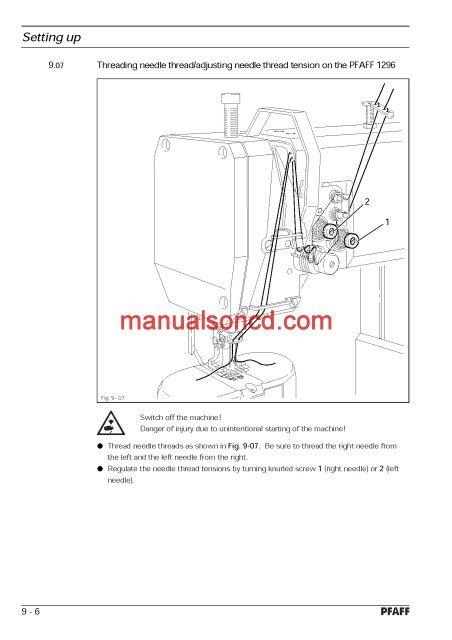 Pfaff 4040 Sewing Machine Instruction Manual Sewing Machine Fascinating Sewing Machine Tension Adjustment
