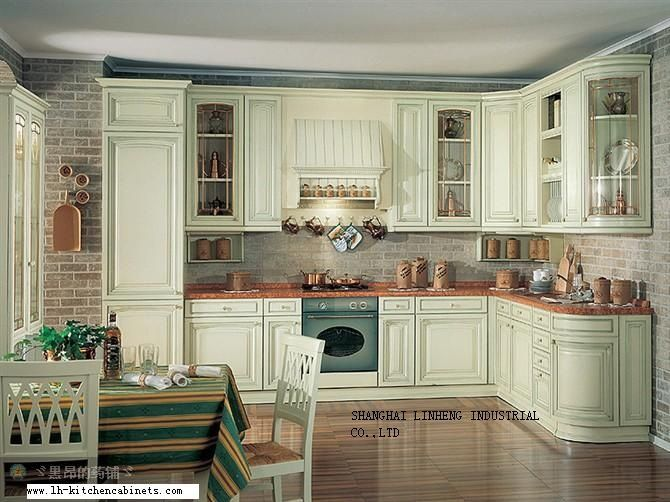 Best Solid Wood European Style Kitchen Cabinet Lh Sw022 En 400 x 300