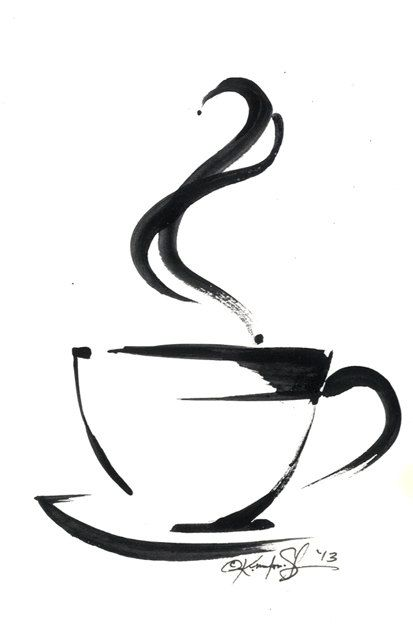 Brushstroke Coffee Cup ... Series No.5 ... Original Abstract ...