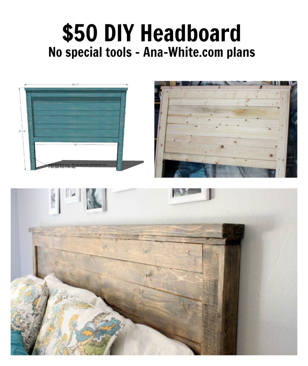 Reclaimed Wood Headboard Queen Size Diy Wood Headboard